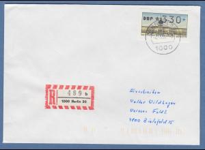 ATM Berlin Wert 330 auf R-Brief nach Bielefeld. ET-Tages-O BERLIN 30 4.5.87