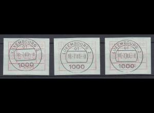 Luxemburg ATM P2501 Tastensatz 4-7-10 mit ET-O 18.7.83