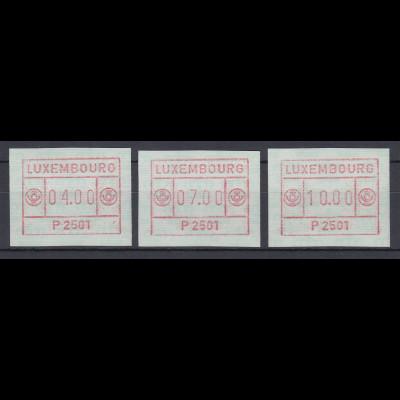 Luxemburg ATM P2501 bräunlichrot Tastensatz 4-7-10 **