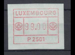 Luxemburg ATM P2501 bräunlichrot Maximum-Wertfehldruck 99,00 **