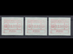 Luxemburg ATM P2501 bräunlichrot Tastensatz 6-10-12 **