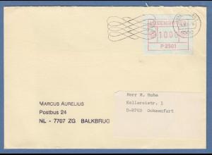 Luxemburg ATM P2501 Wert 10 auf Brief nach Ochsenfurt, Masch-O 4.10.84