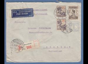 Indonesien / Niederl.-Indien: Lp-R-Brief gel. nach Berlin O SOERABAJA 16.11.31