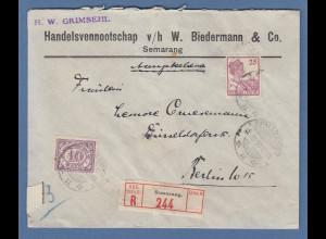 Indonesien / Niederl.-Indien: Lp-R-Brief gel. nach Berlin O SEMARANG 21.10.30