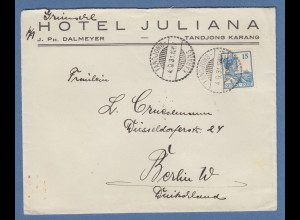 Indonesien / Niederl.-Indien: Brief gel. nach Berlin O TANDJONG 4.9.31