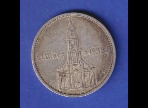 5-Reichsmark Silbermünze Garnisons-Kirche Potsdam mit Datum, 1934 D