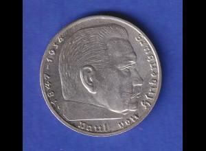2-Reichsmark Silbermünze Hindenburg 1939 A
