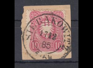 Deutsches Reich Mi.-Nr. 41 auf Briefstück, O SIERAKOWITZ 17.12.85