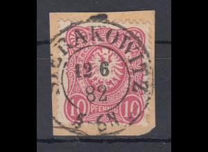 Deutsches Reich Mi.-Nr. 41 auf Briefstück, O SIERAKOWITZ 12.6.82