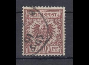 Deutsches Reich Mi.-Nr. 50d mit PLF III keilförmige weiße Stelle... O, gpr. BPP