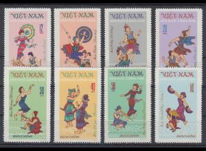 Vietnam-Nord 1972 Volkstänze Mi.-Nr. 708-16 Satz kpl. **