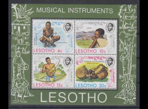 Lesotho 1975 Musikinstrumente Blockausgabe **
