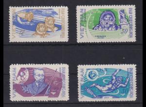 Vietnam-Nord 1965 Erforschung des Weltraums Mi.-Nr. 401-04 **