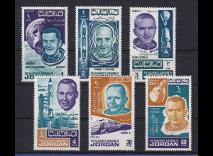 Jordanien 1966 Welraumfahrt Mi.-Nr. 623-628A Satz ** / MNH