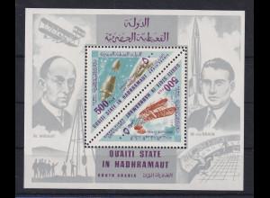 Aden 1967 Flugzeuge und Raketen Mi.-Nr. Block 25A ** / MNH
