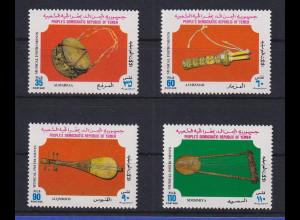 Jemen (Süd) 1978 Musikinstrumente Mi.-Nr. 222-25 ** / MNH