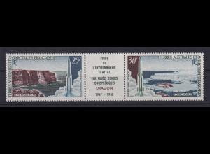 Französische Antarktis TAAF Raketen-Abschussbasen Mi.-Nr. 42-43 **