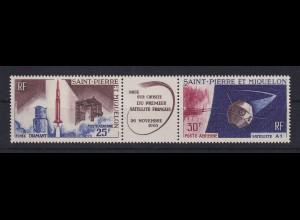 St. Pierre und Miquelon 1966 Start des 1. franz. Satelliten Mi.-Nr. 413-14 **