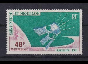 St. Pierre und Miquelon 1966 Start des franz. Satelliten D1 Mi.-Nr. 415 **