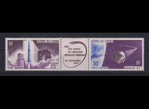 Komoren 1966 Start des ersten franz. Satelliten Zusammendruck **