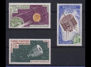 Mauretanien 1966 Weltraum / Satelliten 3 Werte **