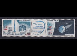 Reunion 1966 Start des 1. franz. Satelliten Zusammendruck **