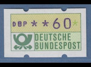 ATM mit blauviolettem Werteindruck, sog. BLAUE MÜNCHNER,1982, Wert 60Pfg **