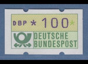ATM mit blauviolettem Werteindruck, sog. BLAUE MÜNCHNER,1982, Wert 100Pfg m.Nr.