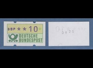 ATM - Abart BLAUE MÜNCHNER,1982, Wert 10Pfg mit VERSETZTER Zählnummer, Rarität!
