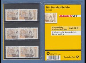 MARKENSET für Standardbriefe mit 6x Hansekogge Mi.-Nr. 2558