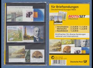 MARKENSET für Briefsendungen mit 7 verschiedenen Sondermarken 45 bis 220