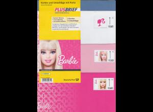 """Deutsche Post Plusbrief Individuell """"Barbie"""" Set 3 Karten und Umschläge"""