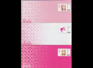 Deutsche Post Plusbrief Individuell zum Thema Barbie, 3 Umschläge mit Karten