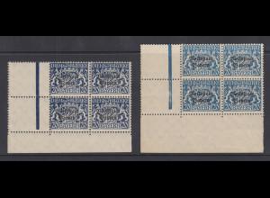 Bayern 1919 Dienstmarke Mi.-Nr. 35 in zwei markanten teils seltenen Farbnuancen