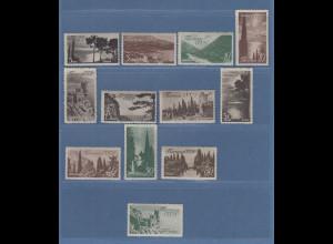 Sowjetunion 1938 Landschaften Krim und Kaukasus Mi.-Nr. 625-636 Satz kpl. **