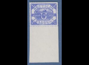 Dt.Reich Feldpostmarke U-Boot Hela 1945, Mi.-Nr. 13b (*) mit breitem Unterrand