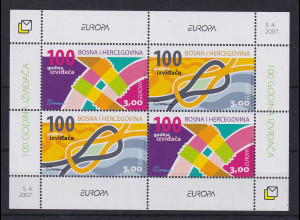 Bosnien (kroatische Post) 2007 EUROPA Pfadfinder Mi.-Nr. 200-201 Block 10 **
