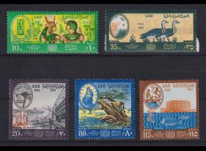 Ägypten / Egypt 1967 Tourismus Mi.-Nr. 855-59 Satz 5 Werte **