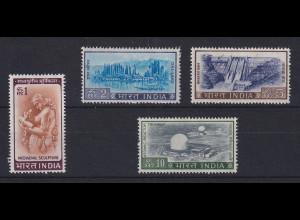 Indien 1967 Freimarken-Höchstwerte Mi.-Nr. 397-400 **
