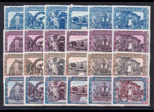 Guatemala 1972-73 Jahr des amerik. Tourismus Mi.-Nr. 930-53 Satz 24 Werte kpl.**