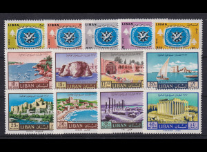 Libanon 1967 Internat. Jahr des Tourismus Mi.-Nr. 997-1009 Satz kpl. **