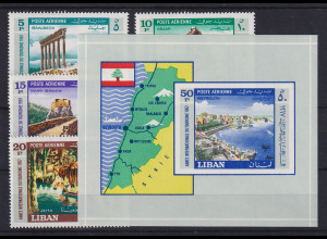 Libanon 1967 Internat. Jahr des Tourismus Mi.-Nr. 992-95 + Bl. 33 Satz kpl. **