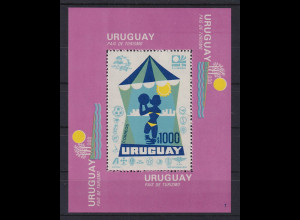 Uruguay 1974 Blockausgabe Tourismus Mi.-Nr. Block 20 **