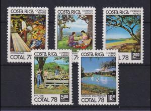 Costa Rica 1978 Tourismus COTAL 78 Mi.-Nr. 987-91 Satz 5 Werte **