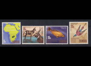Sambia 1969 Afrika-Tourismus Mi.-Nr. 57-60 Satz 4 Werte kpl. **