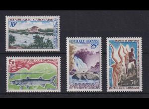 Gabun 1969 Landschaften und Tiere Mi.-Nr. 326-29 Satz 4 Werte kpl. **