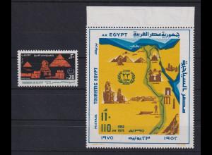 Ägypten 1975 Tourismus Mi.-Nr. 1195 und Block 32 kpl. **