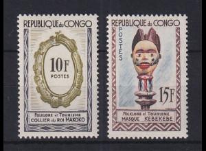 Kongo 1963 Folklore und Tourismus Mi.-Nr. 32-33 Satz 2 Werte **