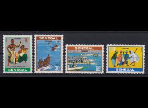 Senegal 1978 Tourismus, Regatta und Tänze Mi.-Nr. 652-55 Satz 4 Werte **