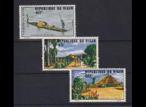 Niger 1978 Tourismus, Kultur und Landschaften Mi.-Nr. 491-93 Satz 3 Werte **